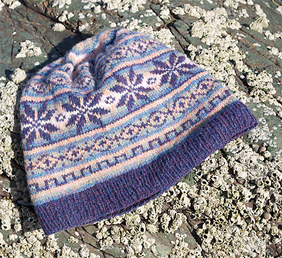 Slouchy Fair Isle Hat - Knitting Squirrel