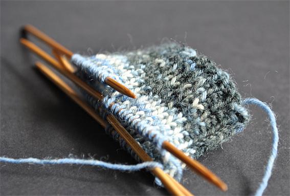 how to start knitting socks