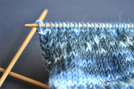 Knitting Edges Garter Stitch : How to knit your first sock part