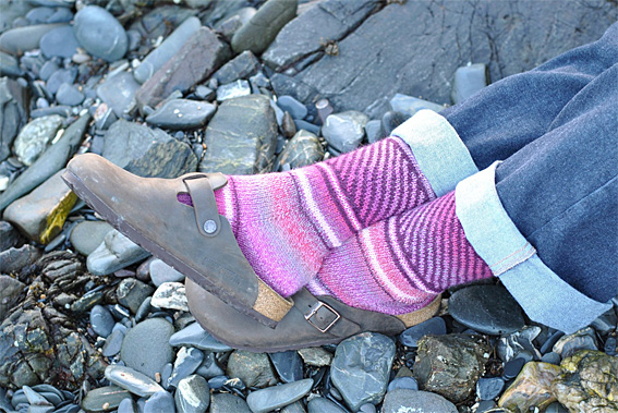 Fair Isle Swirl Socks