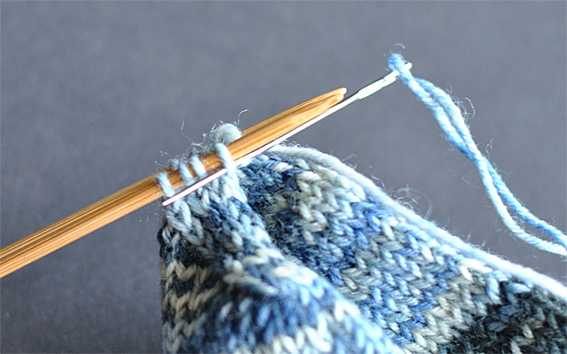 Knit Kitchener Stitch To Finish A Sock : Graft your sock toe with kitchener stitch