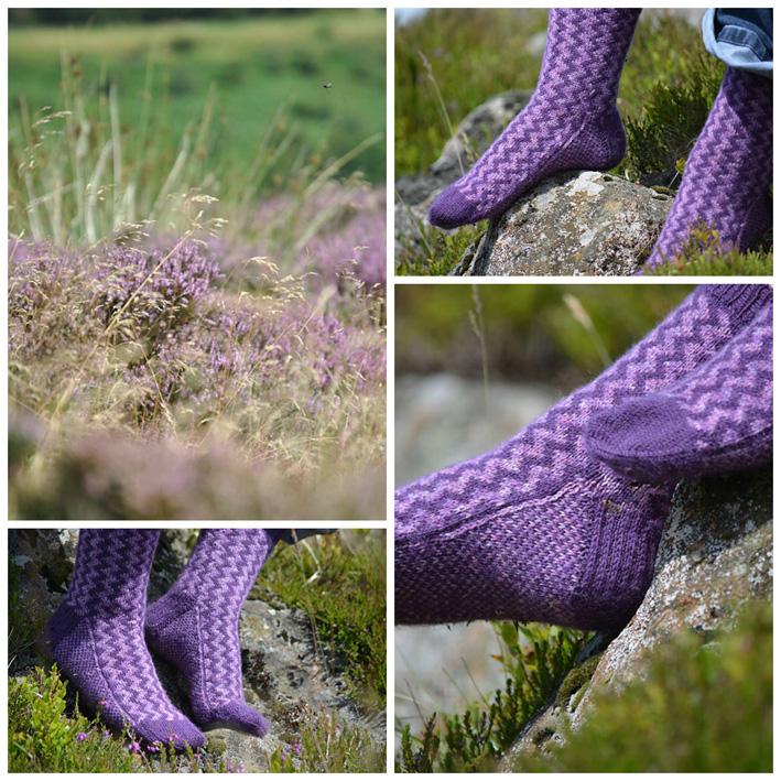 Fair Isle Zig Zag Socks