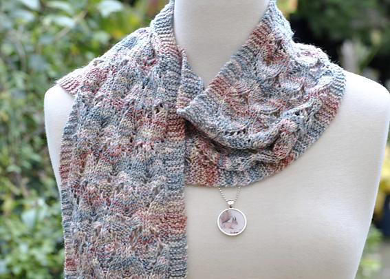 Diagonal Eyelet Scarf - Knitting Squirrel