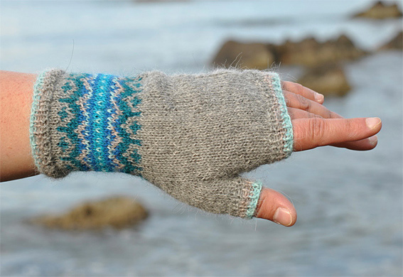 Fair Isle Fingerless Mittens Moodboard - Knitting Squirrel