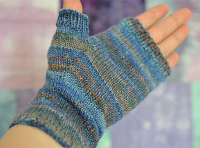 Knitting Pattern Fingerless Mittens Two Needles : Fingerless Mittens - Knitting Squirrel
