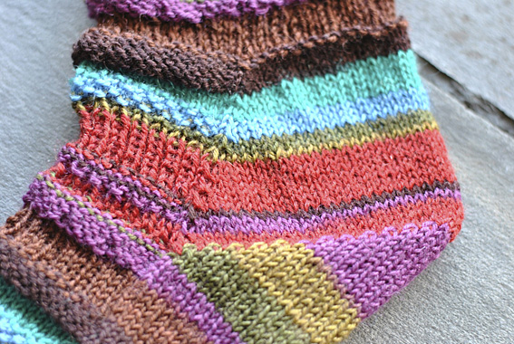 Funky Slouch Socks - Knitting Squirrel