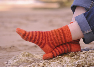 Orange Rainbow Socks
