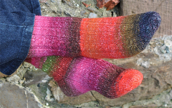 So Simple Silk Garden Socks Knitting Squirrel