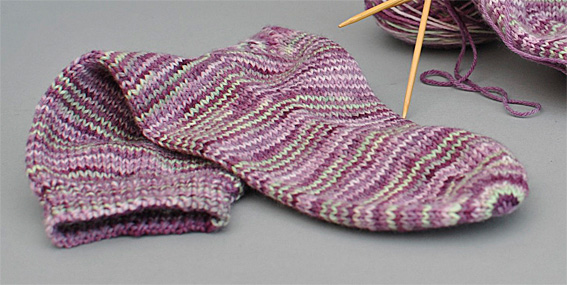 Sock Pattern With Round Toe Shaping