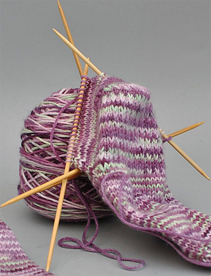 Knitting Pattern For Socks In The Round : Sock Pattern with Round Toe Shaping - Knitting Squirrel