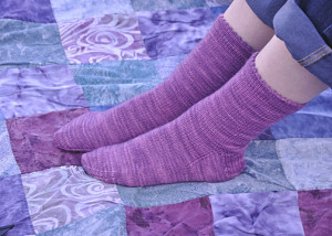 Violet Rainbow Socks