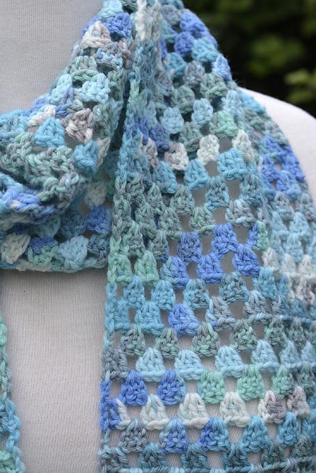Sea Breeze Crocheted Scarf