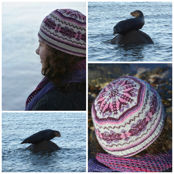 Acht Fair Isle Hat Collage