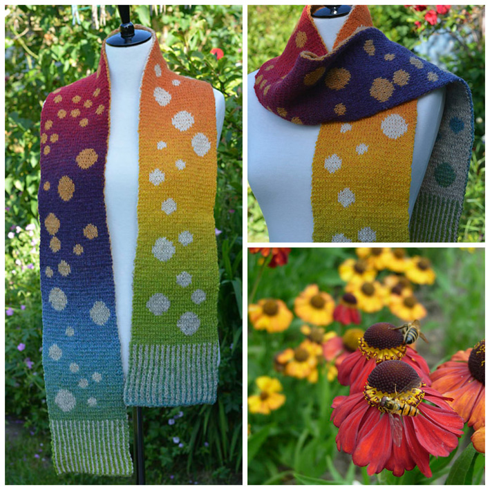 Bubbles Scarf Rainbow Collage