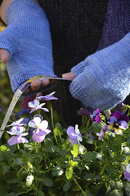 Pansy Fingerless Mitts