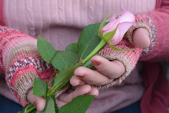 Valentine Fingerless Mitts