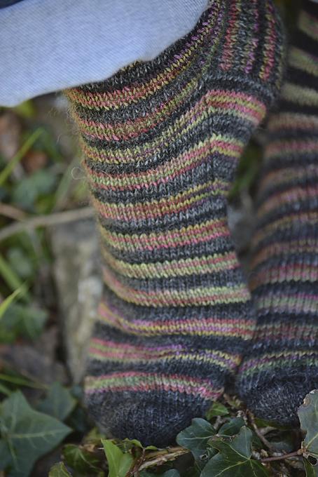 Evenly Striped Socks