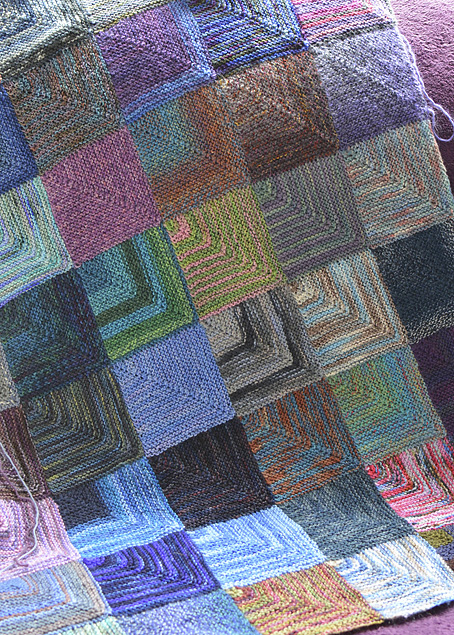 Mitred Squares Blanket - Part 1 - Knitting Squirrel