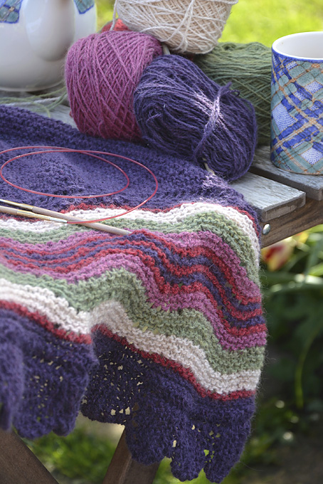 Shetland Hap Shawl using Shilasdair Luxury 4ply