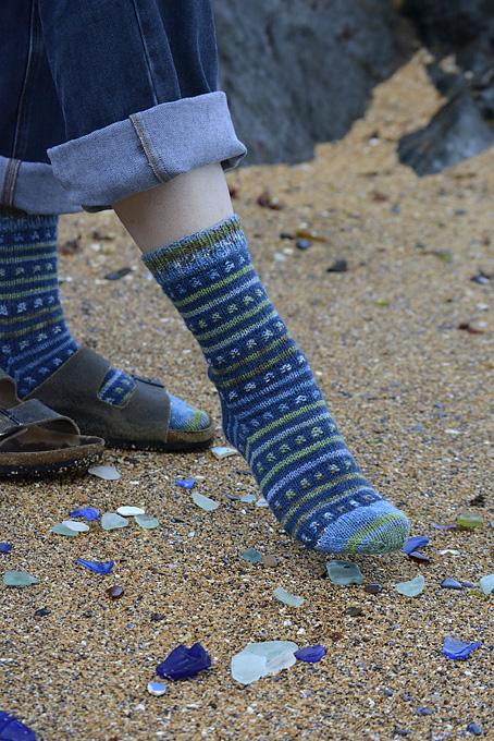 Beachcombing Striped Socks