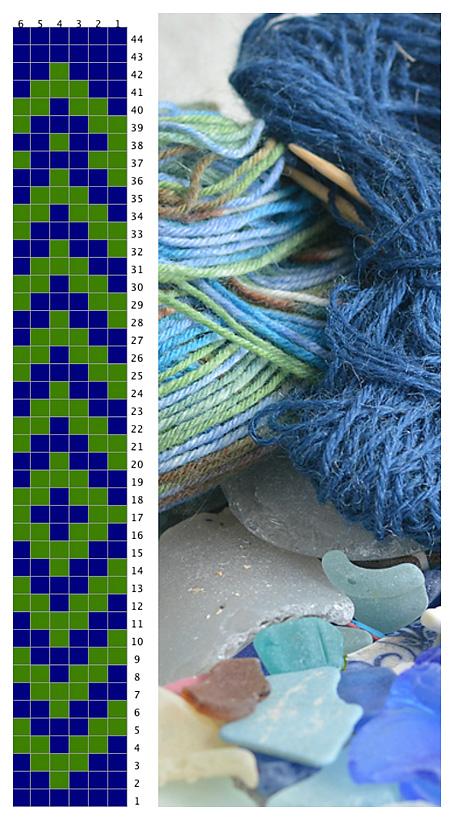 Fair Isle Beachcombing Sock Chart
