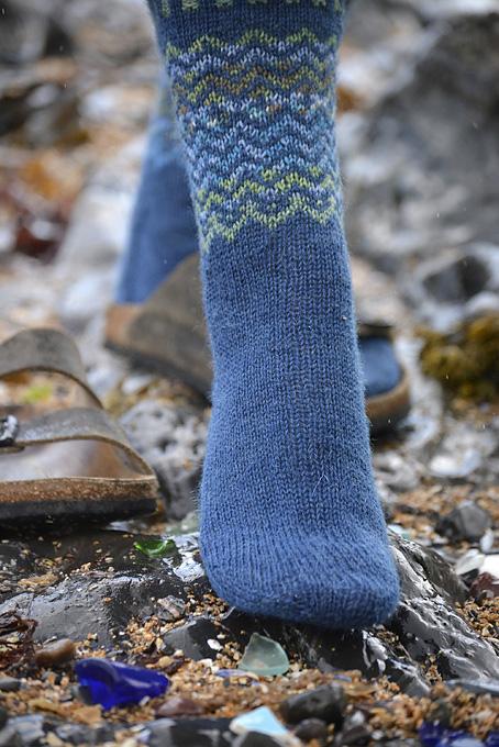Fair Isle Beachcombing Socks