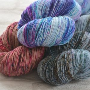 Hand Dyed Opal Sock Yarn by the Knitting Squirrel