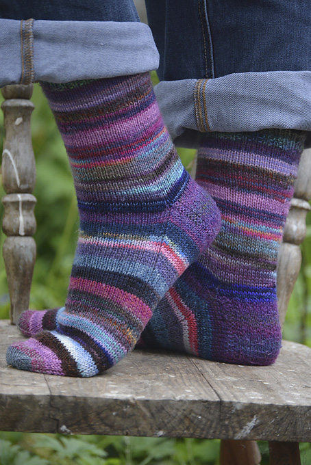 Purple Sock Yarn Leftovers Socks