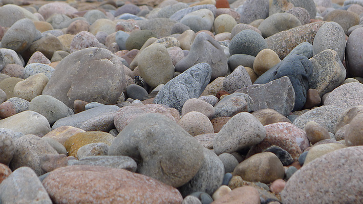 Pebbles on Aberdeen Beach