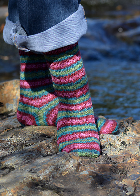 Slip Stitch Snowflake Socks 14