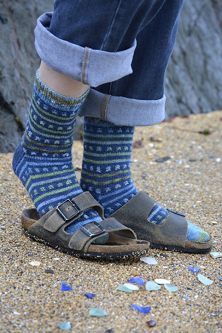 Beachcombing Striped Sock