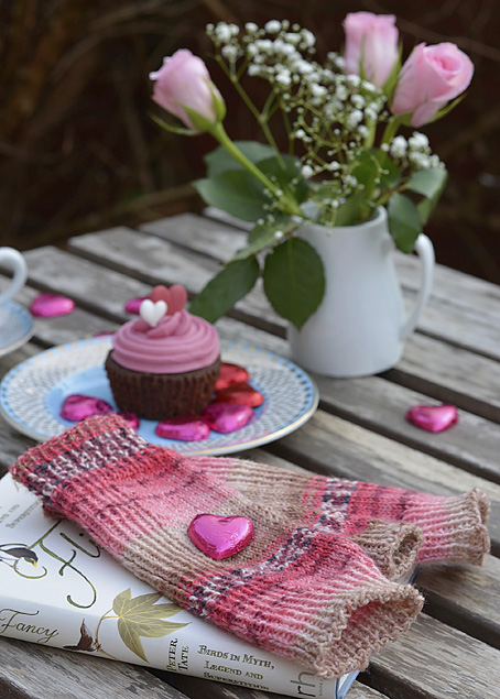 Valentine Fingerless Mitts
