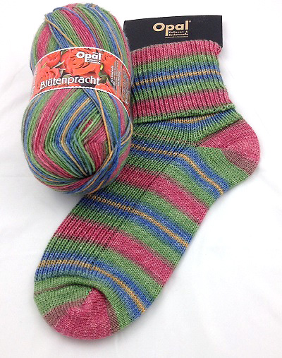 Opal Cottage Garden Flowers Sock Yarn