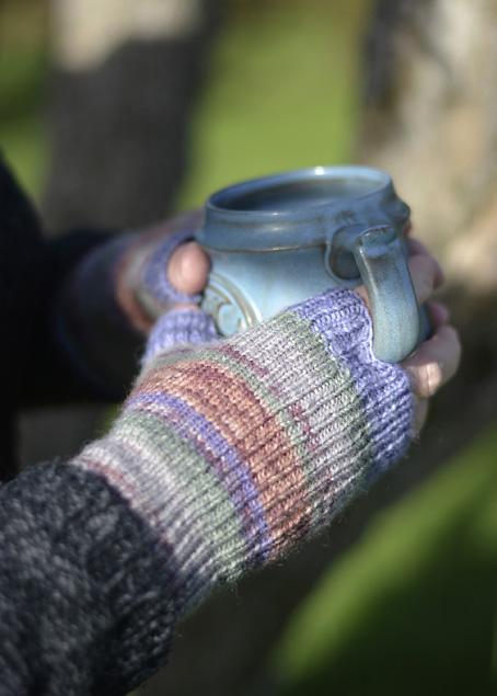 Opal Schafpate Fingerless Mitts