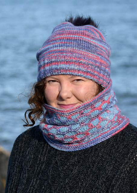Opal Winter Moon Hat & Cochal Cowl