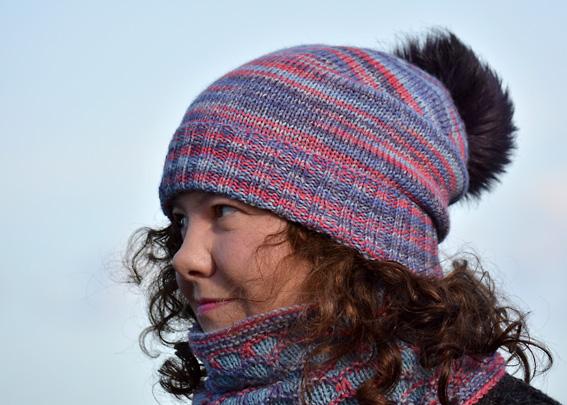 Opal Winter Moon Hat & Cochal Cowl