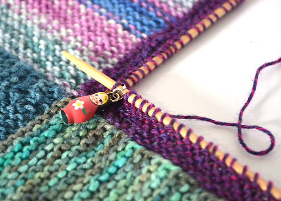 Knitting Slip Stitch Beginning Row : How to Knit a Mitred Square Blanket - Knitting Squirrel
