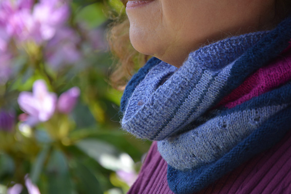 3 Colour Cashmere Cowl