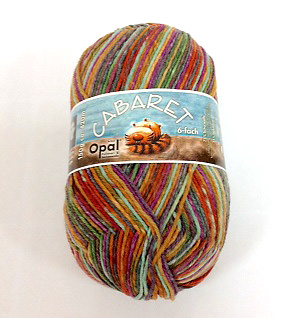 Opal Cabaret 6ply Sock Yarn 9236 Turning Point