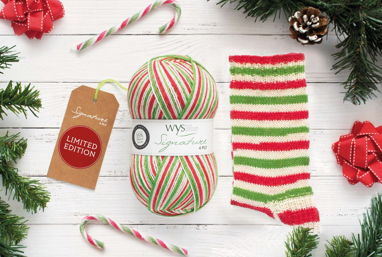 WYS Signature 4ply Christmas Special Candy Cane