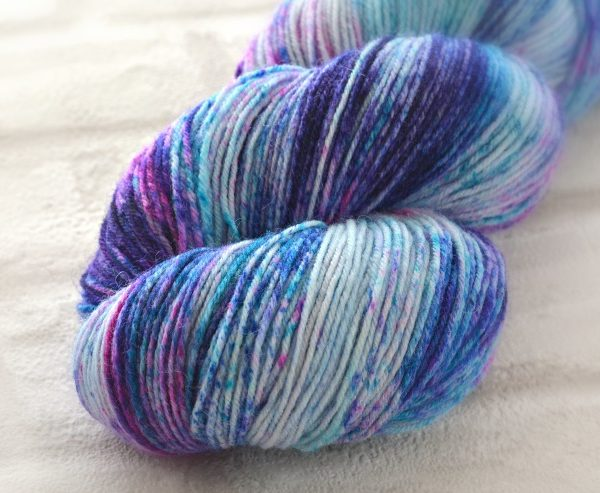 Blueberry Ice Cream Hand Dyed Opal Sock Yarn