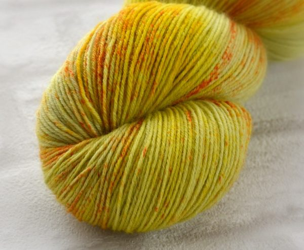 Chartreuse Blush Hand Dyed Opal Sock Yarn