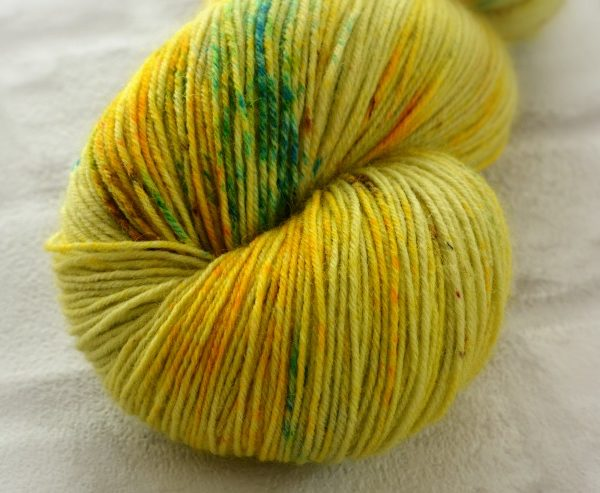Chartreuse Heath Hand Dyed Opal Sock Yarn