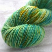 Emerald Green Gem Hand Dyed Opal Sock Yarn