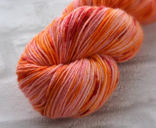 Firebird Glow Hand Dyed Opal Sock Yarn