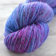 Indigo Ripples Hand Dyed Opal Sock Yarn