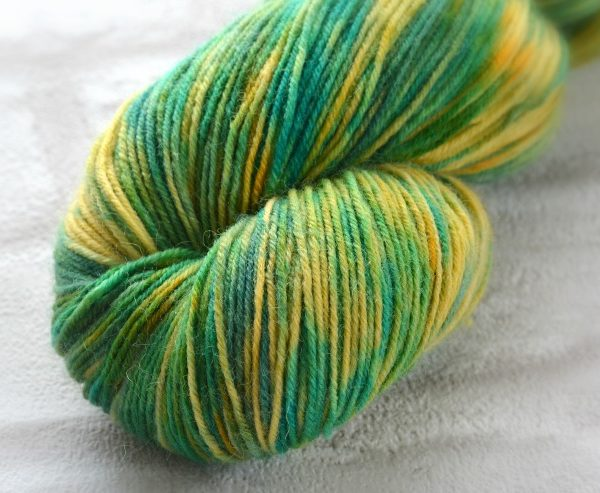 Leafy Lemon Hand Dyed Opal Sock Yarn