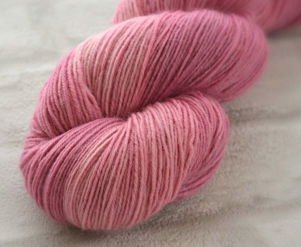 Rosewater Pink Hand Dyed Opal Sock Yarn