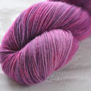 Royal Garnet Hand Dyed Opal Sock Yarn