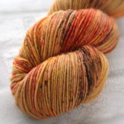 Rusty Brass Hand Dyed Opal Sock Yarn